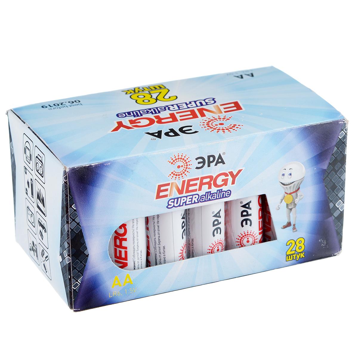 "Батарейка алкалиновая ЭРА ""Energy"", тип AA (LR6-28), 1,5В, 28 шт 5055398651254"