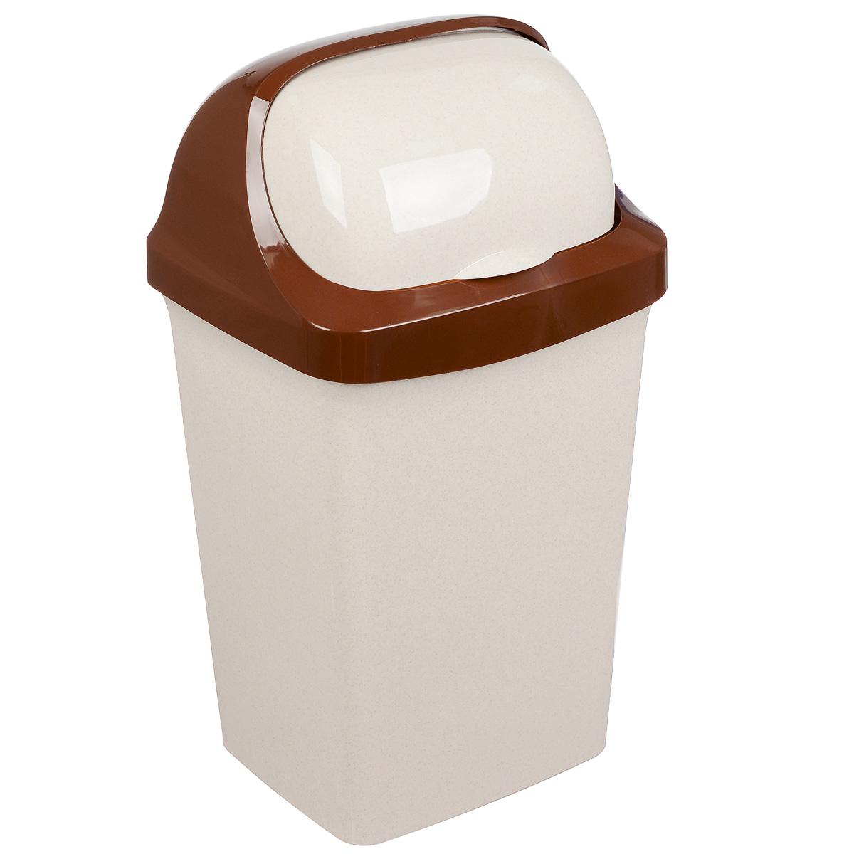 Контейнер для мусора Idea Ролл Топ, цвет: бежевый мрамор, 25 лМ 2467Контейнер для мусора Idea Ролл Топ изготовлен из прочного полипропилена (пластика). Контейнер снабжен удобной съемной крышкой с подвижной перегородкой. Благодаря лаконичному дизайну такой контейнер идеально впишется в интерьер и дома, и офиса.