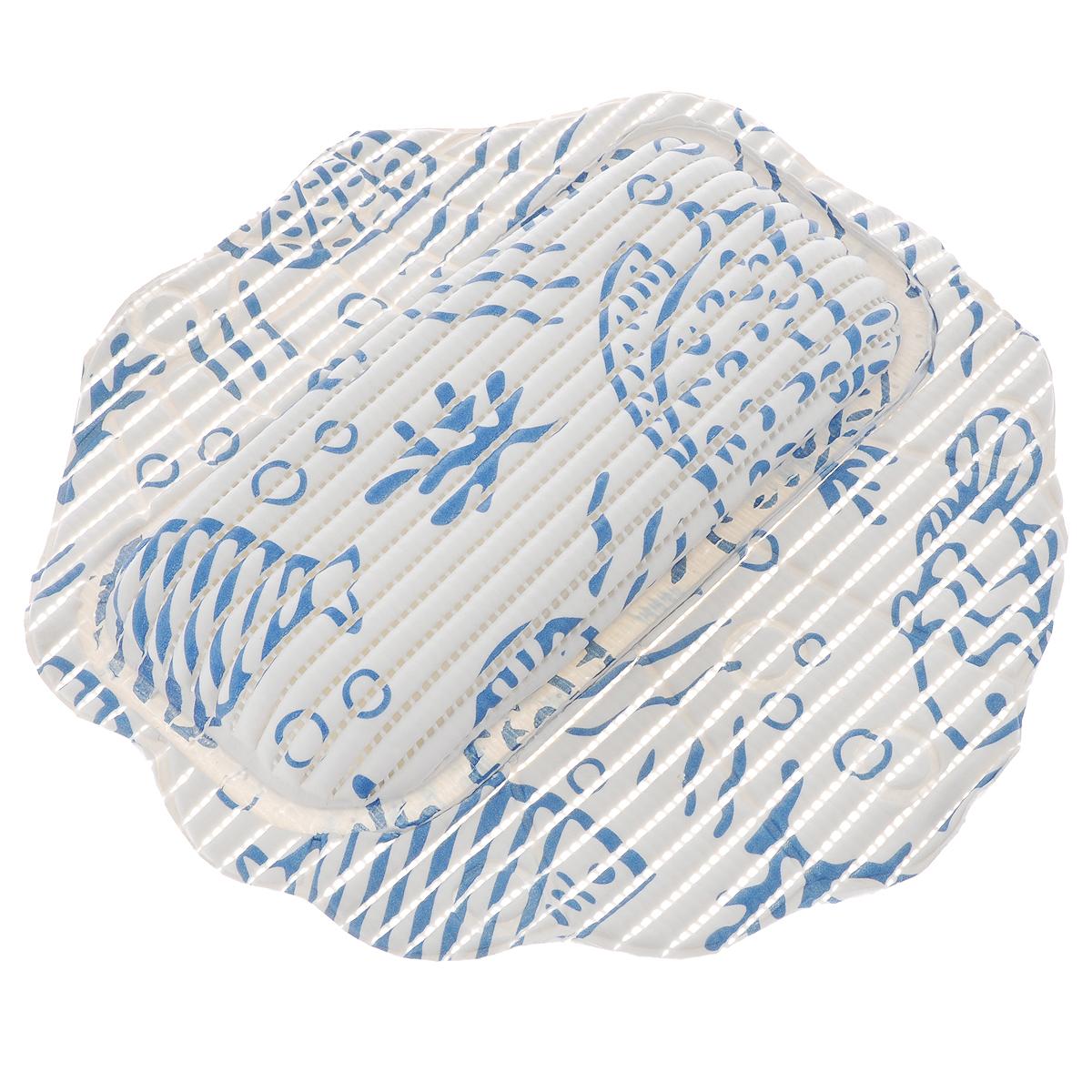 Подушка для ванны Fresh Code Flexy, на присосках, цвет: белый, синий, 33 х 33 см55764_белый,синийПодушка для ванны Fresh Code Flexy обеспечивает комфорт во время принятия ванны. Крепится на поверхность ванной с помощью присосок. Выполнена из ПВХ.