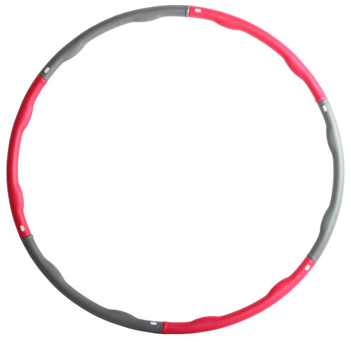 Обруч массажный Alonsa, цвет: серый/фуксия, HP-813014156764Обруч массажный Alonsa HP-81301. Обруч разборный, из 6 секций. Материал: полипропилен. Диаметр: 100 см. Вес: 1300 г.