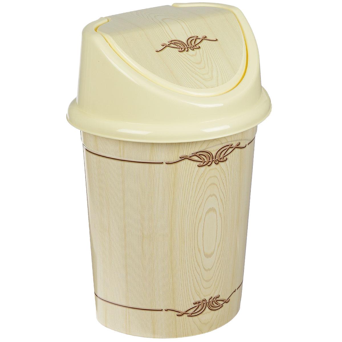 Контейнер для мусора Violet Беленый дуб, цвет: слоновая кость, коричневый, 14 л0414/91Контейнер для мусора Violet Беленый дуб изготовлен из прочного пластика. Контейнер снабжен удобной съемной крышкой с подвижной перегородкой. В нем удобно хранить мелкий мусор. Благодаря лаконичному дизайну такой контейнер идеально впишется в интерьер и дома, и офиса. Высота контейнера без крышки: 33,5 см.