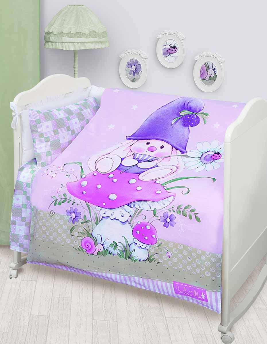 Детское постельное белье Mona Liza Зайка-гномик (КПБ, хлопок, наволочка 40х60)521820Детское постельное белье Mona Liza Зайка-гномик прекрасно подойдет для вашего малыша. Текстиль произведен из 100% хлопка. При нанесении рисунка используются безопасные натуральные красители, не вызывающие аллергии. Гладкая структура делает ткань приятной на ощупь, она прочная и хорошо сохраняет форму, мало мнется и устойчива к частым стиркам. Комплект состоит из наволочки, простыни и пододеяльника. Яркий рисунок непременно понравится вашему ребенку. Размер пододеяльника: 110 см х 145 см. Размер простыни: 100 см х 145 см.