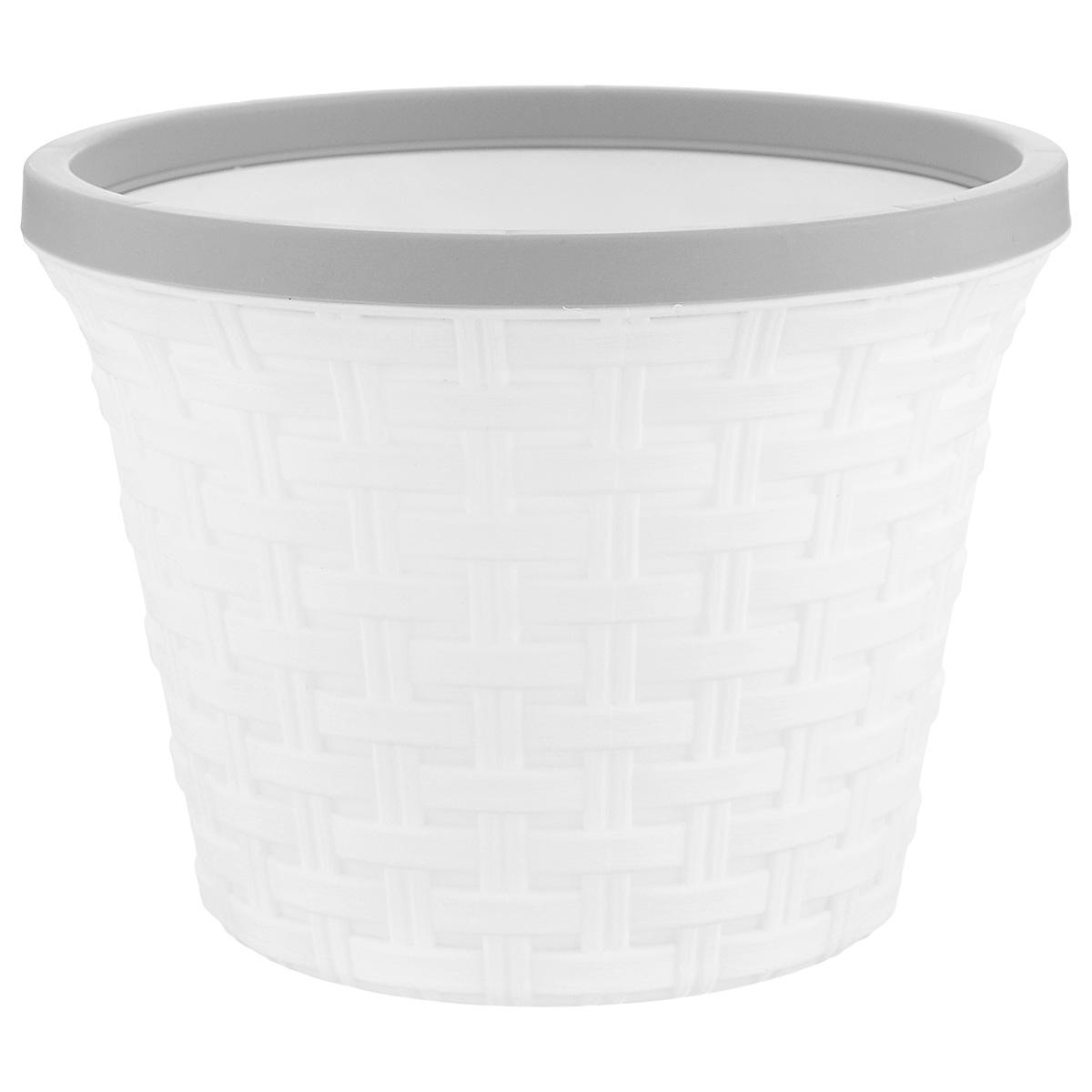Кашпо Violet Ротанг, с дренажной системой, цвет: белый, 2,2 л32220/6Кашпо Violet Ротанг изготовлено из высококачественного пластика и оснащено дренажной системой для быстрого отведения избытка воды при поливе. Изделие прекрасно подходит для выращивания растений и цветов в домашних условиях. Лаконичный дизайн впишется в интерьер любого помещения. Объем: 2,2 л.