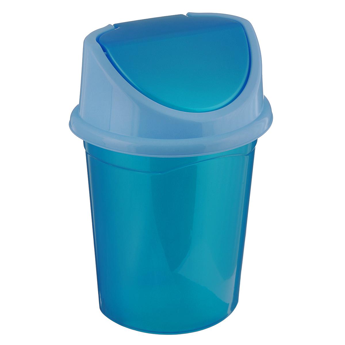 Контейнер для мусора Violet, цвет: бирюзовый, голубой, 14 л68/5/3Контейнер для мусора Violet изготовлен из прочного пластика. Контейнер снабжен удобной съемной крышкой с подвижной перегородкой. В нем удобно хранить мелкий мусор. Благодаря лаконичному дизайну такой контейнер идеально впишется в интерьер и дома, и офиса.Размер изделия: 29 см х 31,5 см х 45 см.
