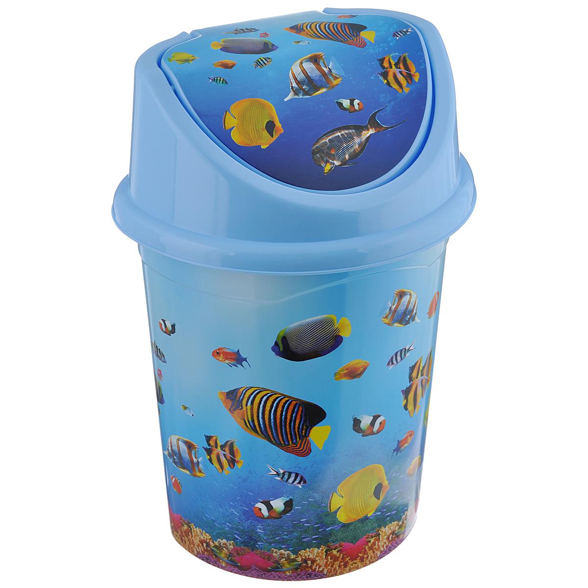 Контейнер для мусора Violet Океан, цвет: голубой, синий, желтый, 8 л0408/79Контейнер для мусора Violet Океан изготовлен из прочного пластика. Контейнер снабжен удобной съемной крышкой с подвижной перегородкой. В нем удобно хранить мелкий мусор. Благодаря яркому дизайну такой контейнер идеально впишется в интерьер и дома. Размер изделия: 21 см x 26 см x 36 см.