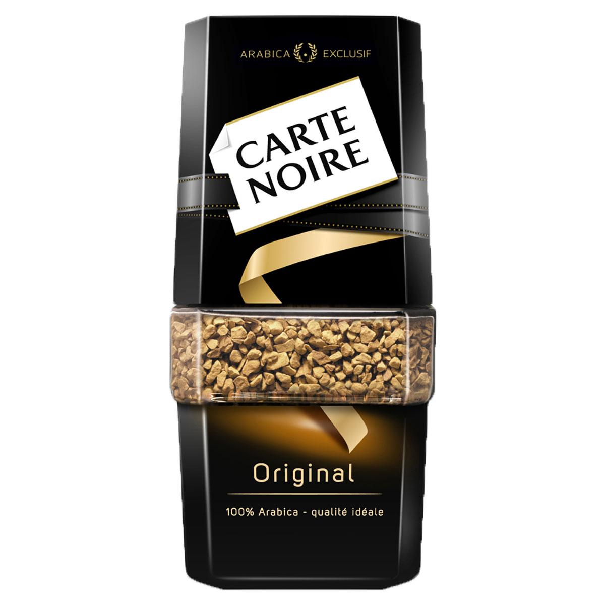 Carte Noire Original кофе растворимый, 47,5 г605025Достигнув совершенства в кофейном мастерстве, Carte Noire создал новый стандарт качества кофе. Обжарка Carte Noire Огонь и Лед раскрывает всю интенсивность и богатство вкуса натурального кофейного зерна. Так же как лед украшает пламя, холодный поток останавливает обжарку на самом пике, чтобы создать совершенный насыщенный кофе. В этом столкновении контрастов рождается исключительность Carte Noire -его безупречный насыщенный вкус и непревзойденное качество. Для создания нового вкуса совершенного французского кофе Carte Noire используются высококачественные кофейные зерна 100% Arabica Exclusif.