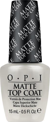 OPI Верхнее покрытие для создания матового эффекта Matte Top-Coat, 15 млNTT35Профессиональная формула быстро закрепляет лак, оставляя после высыхания гладкую ровную поверхность с матовым эффектом.