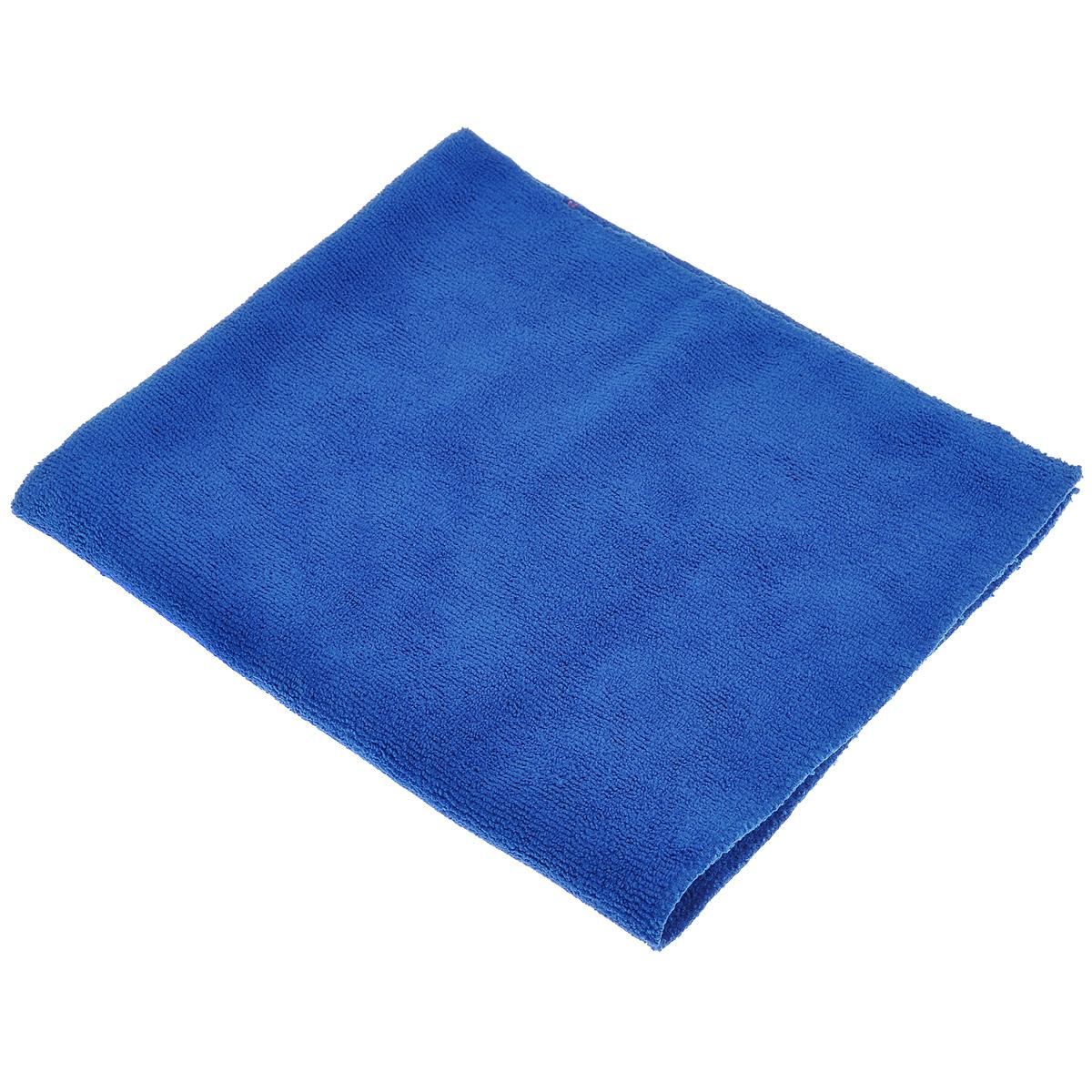 Тряпка для пола Eva, цвет: синий, 50 х 60 смЕ73_синийТряпка для пола Eva выполнена из микрофибры (полиэстера и полиамида). Благодаря микроструктуре волокон она проникает в поры материалов, а поэтому может удалять загрязнения без применения химических средств. Тряпка удерживает влагу, не оставляет разводов и ворса. Размер: 50 см х 60 см.