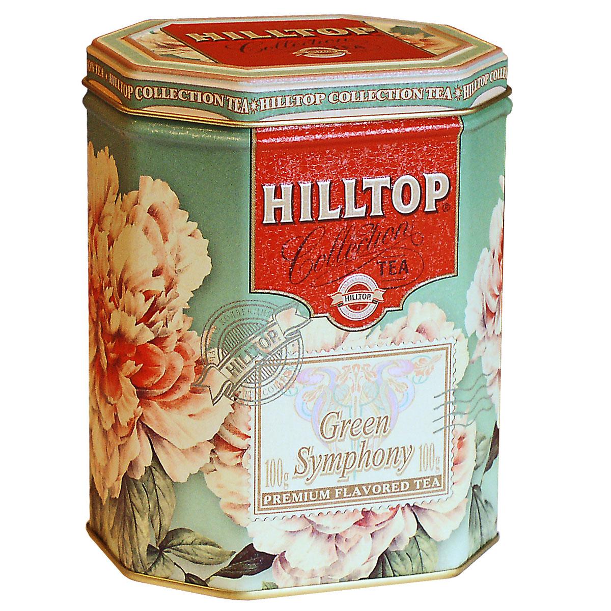 Hilltop Зеленая симфония зеленый листовой чай, 100 г4607099300309Hilltop Зеленая симфония - свежий зеленый китайский чай Сенча с лепестками календулы и мальвы.