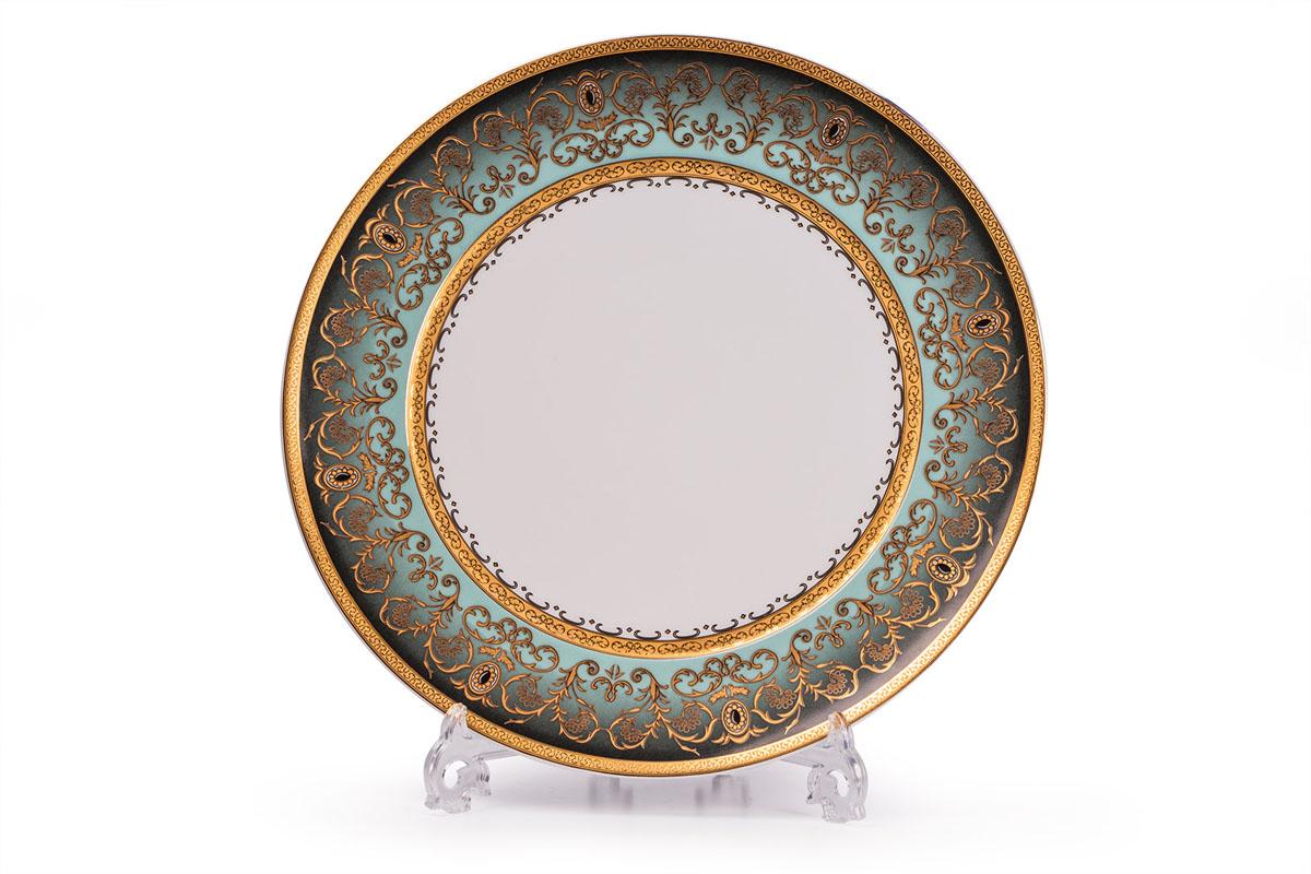 Mimosa Prague Degrade 1643, набор тарелок 27см (6шт), цвет: бело-зеленый с золотом539116 1643В наборе тарелка 27 см 6 штук Материал: фарфор: цвет: бело-зеленый с золотом Серия: MIMOSA