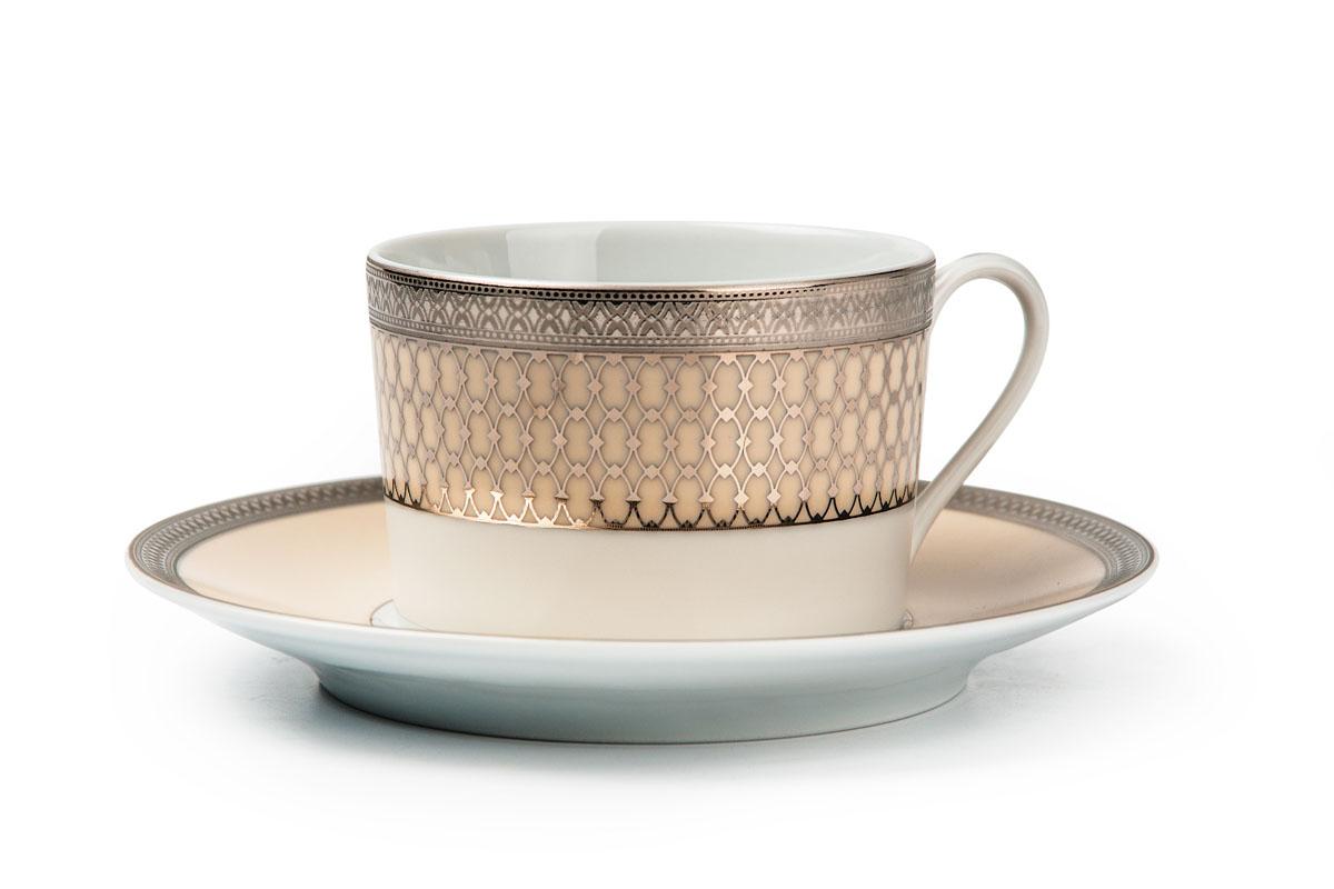 Victoire Or 1488 набор чайных пар, цвет: белый с золотом539506 1488Чайная пара 220 мл * 6 штук/ 12 предметов Материал: фарфор: цвет: белый с золотом Серия: TANIT