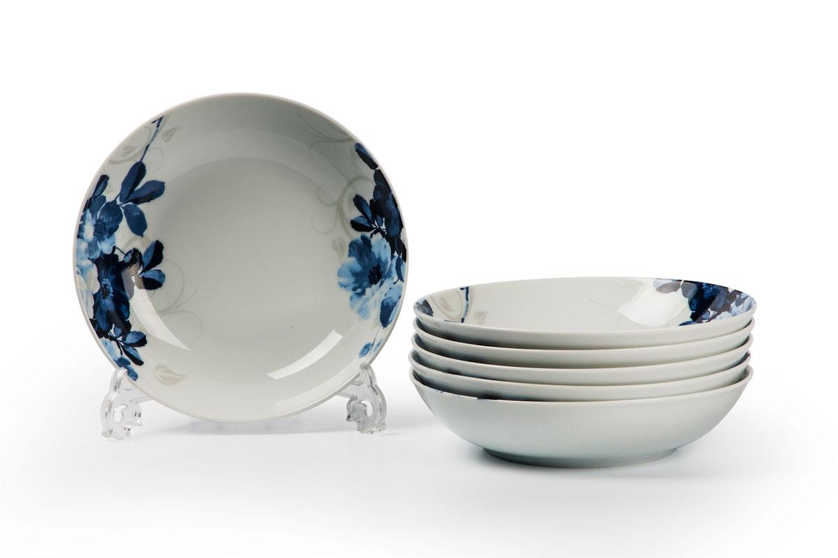 Monalisa 1780 набор глубоких тарелок*6шт, цвет: бело-синий559105 1780в наборе глубокая тарелка 6 штук Материал: фарфор: цвет: бело-синий Серия: MONALISA