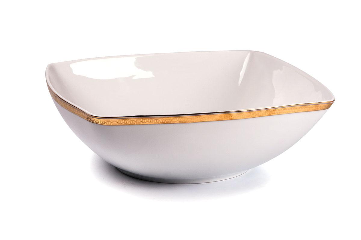 Kyoto 1555 салатник 25 см золото , цвет: белый с золотом714825 1555Салатник 25 см Материал: фарфор: цвет: белый с золотом Серия: KYOTO