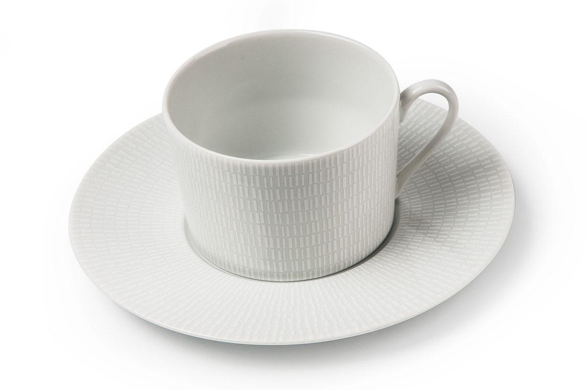 Zen Asymetrie Blanc 2161, набор чайных пар (6шт), цвет: белый839007 2161Чайная пара 220 мл * 6 штук/ 12 предметов