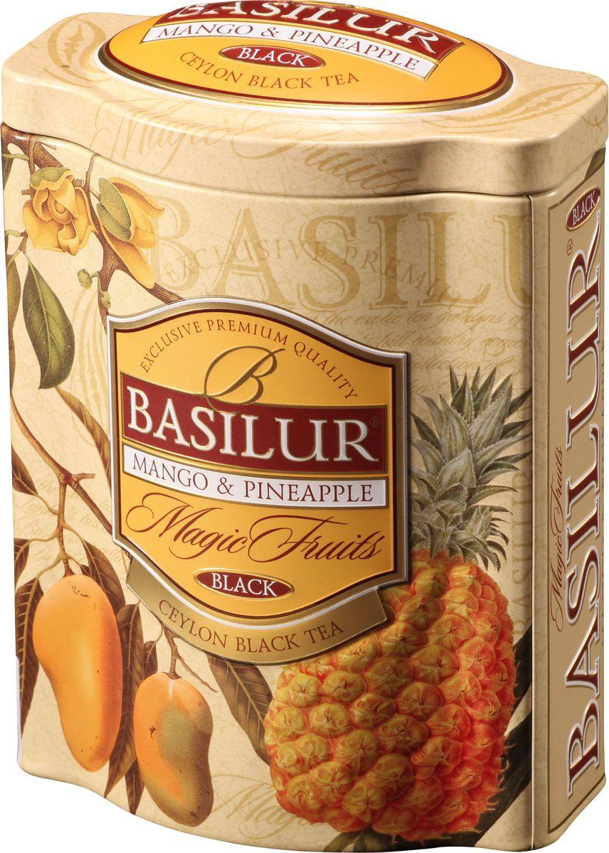 Basilur Mango and pineapple черный листовой чай, 100 г (жестяная банка) 70534-00
