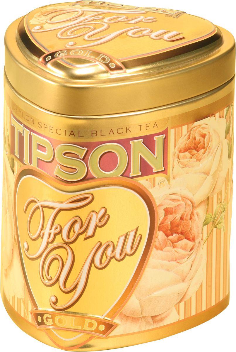 Tipson Gold черный листовой чай, 75 г (жестяная банка)0120710Чай чёрный цейлонский байховый листовой Tipson Gold с ароматами канталупской дыни и розы.