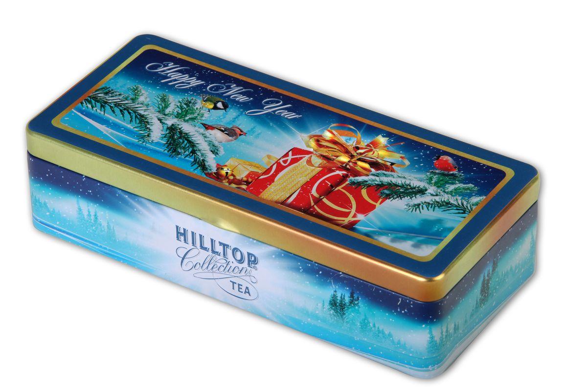 Hilltop Зимний подарок набор черного и зеленого листового чая (шкатулка)4607099302792Декабрь - самый волшебный месяц года. Каждый из нас не раз слышал в предпраздничные дни пожелания свершения чудес, н каждый из нас в это время ждёт чего-то особенного и исполнения того, что может быть погашено только в Новый год. Выбирая подарки близким и дорогим людям, так приятно ощутить особую атмосферу ожидания чуда, царящую в воздухе в эти дни. А после всех радостных хлопот - устроиться в любимом кресле с чашкой горячего чая из набора Hilltop Зимний подарок и улыбнуться себе в предвкушении приближающегося праздника. Королевское золото - традиционно высокогорный чай считается одним из самых высококачественных и экологически чистых сортов, выращиваемых на Цейлоне. Он дает насыщенный золотистый настой немного вяжущего вкуса с тонким изумительным ароматом. Зимняя вишня - дивный напиток на основе черного байхового чая с добавлением кусочков ягод вишни. Обладает чарующим ароматам спелой вишни н.мягким, в меру терпким вкусом, с легкой кислинкой и послевкусием...