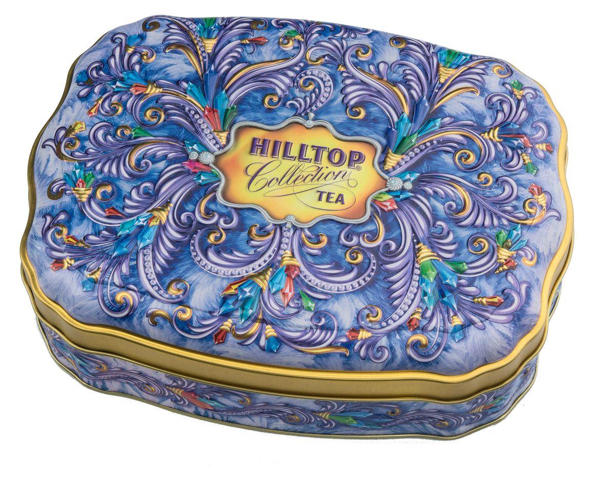 Hilltop Сверкающие самоцветы черный листовой чай, 100 г4607099304383Крупнолистовой цейлонский черный чай Hilltop Сверкающие самоцветы с листьями и тонизирующим ароматом чабреца станет прекрасным дополнением к любому застолью, а также превосходно тонизирует и освежает в любое время дня. Яркая упаковка позволит вам преподнести его как подарок для друзей и родных к новогодним праздникам.