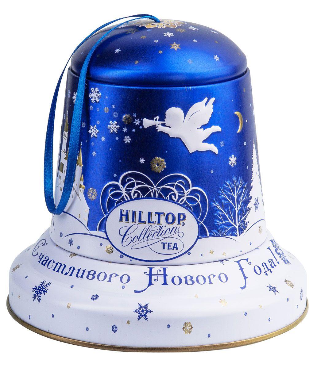 Hilltop Снежный ангел чайный набор, 100 г0120710Подарочная упаковка чая Hilltop Снежный ангелпослужит великолепным украшением вашего дома в новогодние праздники! Благодаря необычному дизайну в виде елочной игрушки - колокольчика коробку можно повесить прямо на новогоднюю елку. Внутри вы найдете благородный китайский чёрный чай Чёрное золото, сочетающий утонченный древесный аромат с крепостью настоя и богатым вкусом с оттенком чернослива.