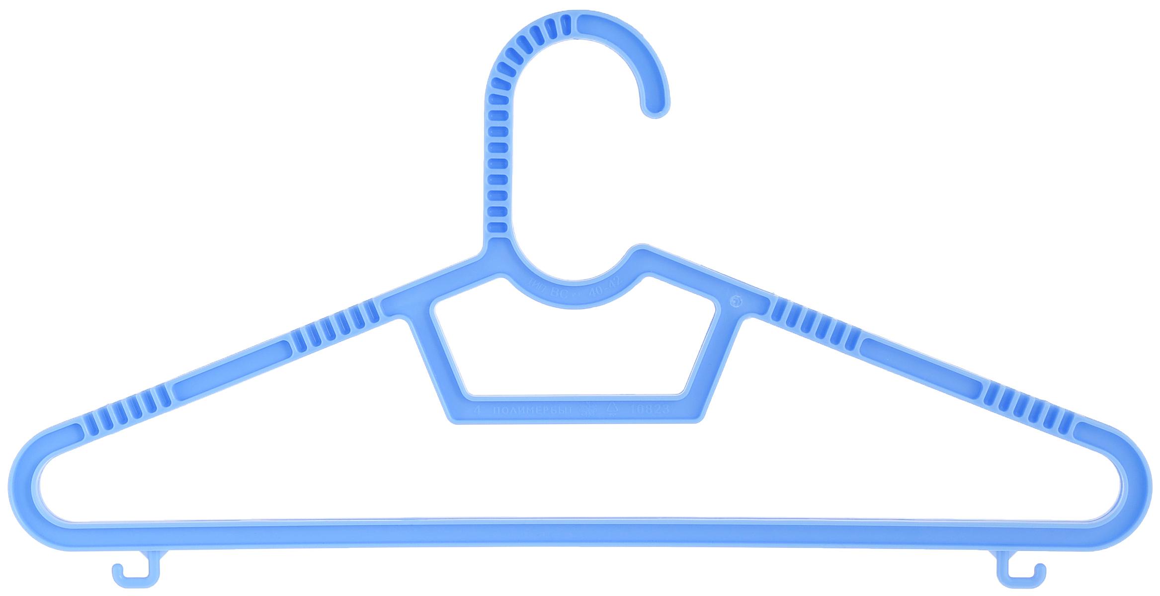 Набор детских вешалок Полимербыт, цвет: голубой, размер 40-42, 3 штПБ 236_голубойНабор Полимербыт состоит из трех детских вешалок для одежды, выполненных из пластика. У вешалок есть перекладина и два небольших крючка по бокам. Плечики вешалки подойдут для одежды размера 40-42. Вешалка - это незаменимая вещь для того, чтобы ваша одежда всегда оставалась в хорошем состоянии.