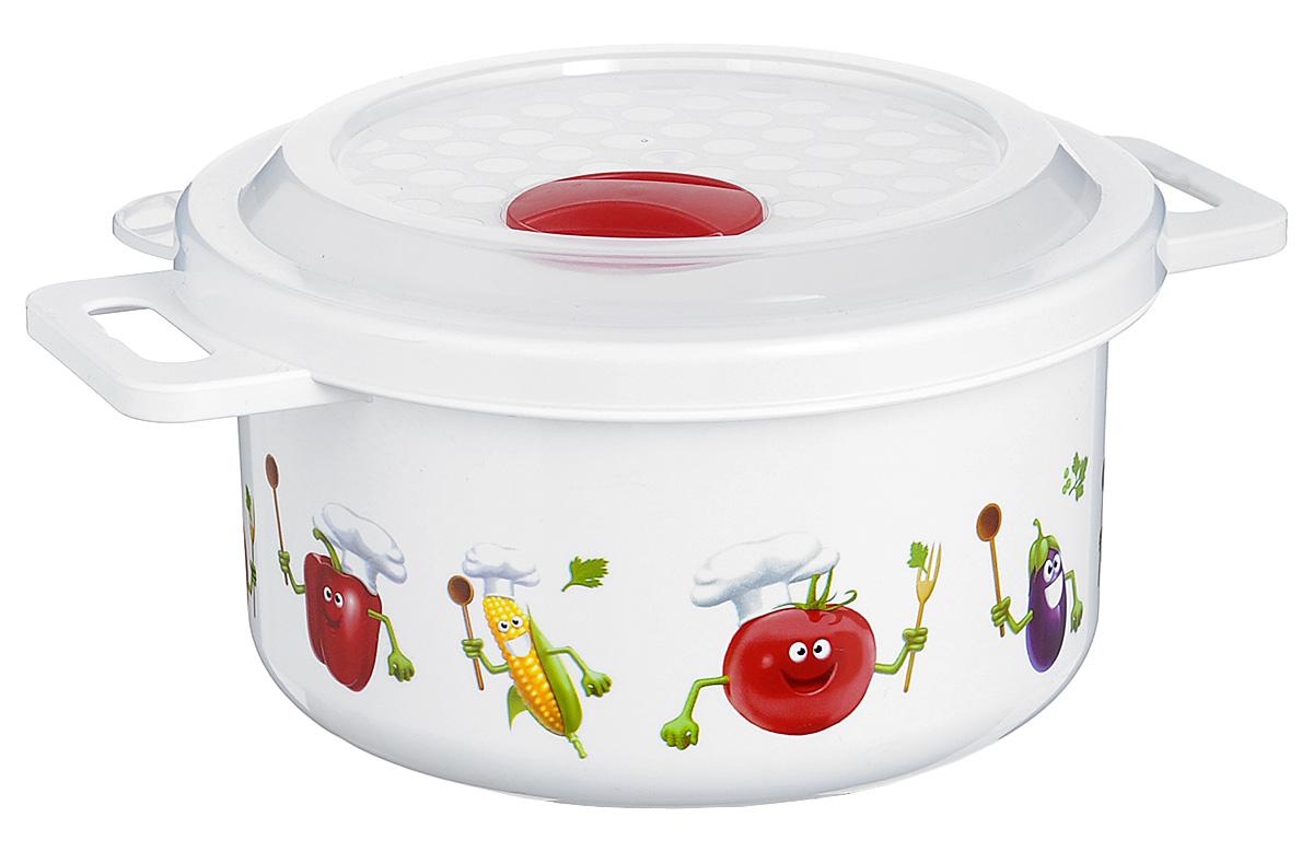 Емкость для заморозки и СВЧ Phibo, цвет: белый, красный, 0,9 лС11727_красныйЕмкость Phibo изготовлена из высококачественного пластика и не содержит Бисфенол А. Крышка легко и плотно закрывается, а также оснащена регулируемым клапаном для выпуска пара. Емкость украшена яркими изображениями овощей. Она устойчива к воздействию масел и жиров, легко моется. Подходит для использования в микроволновых печах при температуре до +100°С, выдерживает хранение в морозильной камере при температуре -24°С, его можно мыть в посудомоечной машине при температуре до +95°С. Объем контейнера: 0,9 л. Диаметр: 14,5 см. Высота: 7,5 см.