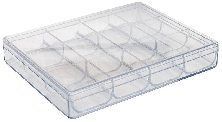 Органайзер Белоснежка, 12 отделенийZ-0307Органайзер используется при хранении и транспортировке мелких предметов. Корпус выполнен из высококачественного пластика, который отличается высокой прочностью. Отделения съемные, благодаря чему изделие удобно чистить.Размер органайзера: 16,2 х 12,2 х 2,7 см.Размер отделений: 4 х 3,7 см.