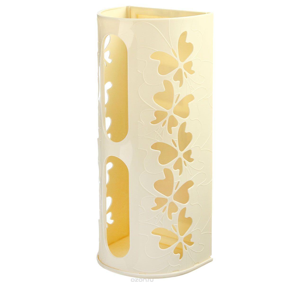 Корзина для пакетов Berossi Fly, цвет: слоновая кость, 16 х 13 х 37,5 смИК10333000Корзина Berossi Fly выполнена из пластика и предназначена для хранения пакетов. Изделие декорировано перфорацией в виде бабочек и крепится к стене при помощи трех саморезов (входят в комплект). Корзина легко собирается и разбирается. Имеет два отверстия, из которых удобно вынимать пакеты. Корзина Berossi Fly позволяет хранить пакеты в одном месте. Размер корзины (в собранном виде): 16 см х 13 см х 37,5 см.