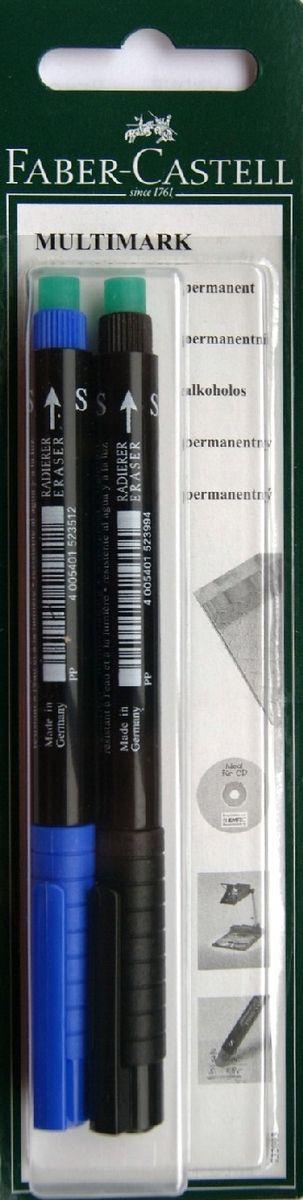Faber-Castell Капиллярная перманентная ручка Multimark S для письма на CD 2 цветаPP-207Капиллярная перманентная ручка Multimark предназначена для письма на CD, DVD дисках, пленках для проекторов и других гладких поверхностях. Ручка с обратной стороны содержит специальный ластик для стирания чернил. Чернила быстросохнущие, с яркими цветами, корпус изготовлен из прочного пластика. В наборе 2 цвета: черный и синий.