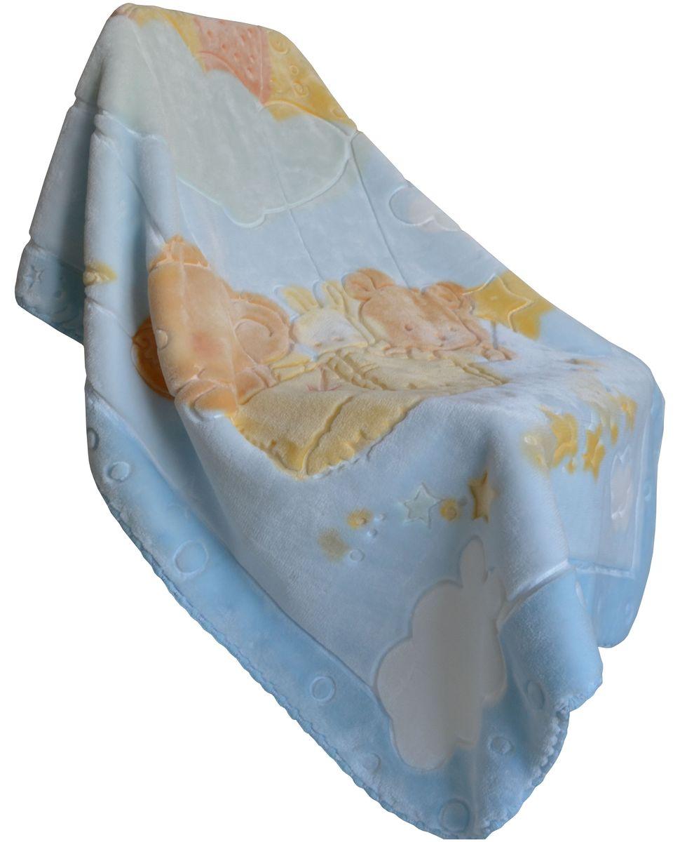 Bonne Fee Плед-одеяло 80 х 110 см цвет голубой10503Приятный и мягкий на ощупь, но при этом плотный и надёжный материал. Выстриженный жаккардовый рисунок не оставляет равнодушным никого! Нежность, забота, любовь и тепло - этими словами можно описать плед-одеяло для малышей. Отличное качество и практичность! Любите своего ребёнка и дарите ему лучшее!