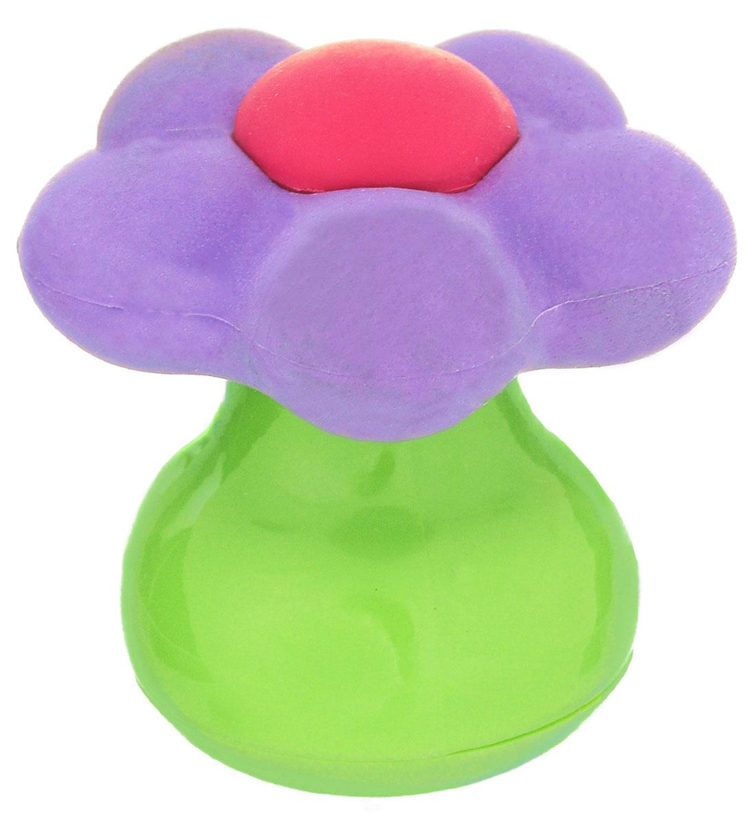 Brunnen Точилка Цветок, с ластиком, цвет: зеленый, фиолетовыйFS-36052Удобная точилка в пластиковом корпусе в виде цветка на толстой ножке, предназначена для затачивания карандашей. Острое стальное лезвие обеспечивает высококачественную и точную заточку. Карандаш затачивается легко и аккуратно, а опилки после заточки остаются в специальном контейнере. Точилка дополнена ластиком-цветком.