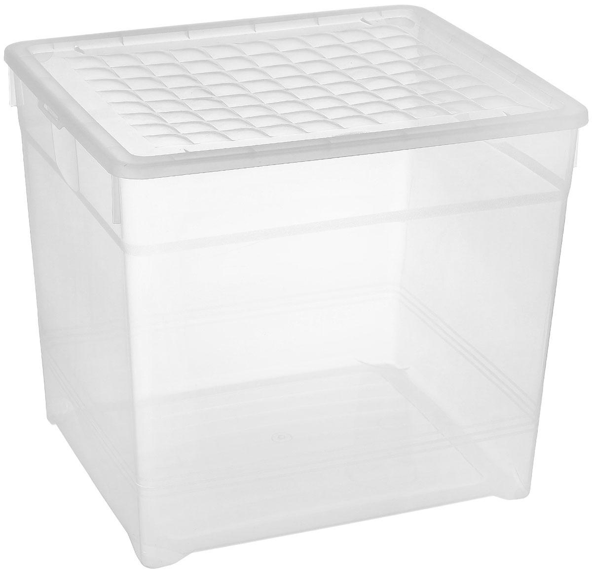 Контейнер для хранения Curver, 33 л03000-001-00Контейнер для хранения Curver изготовлен из прозрачного пластика. Контейнер предназначен для хранения канцелярии, медикаментов, различных мелких предметов, одежды, аксессуаров, например, шарфов, ремней и т.д. Изделие снабжено плотно закрывающейся крышкой, украшенной рельефом в виде объемных квадратов. Такой контейнер поможет хранить все в одном месте, а также защитить вещи от пыли, грязи и влаги.
