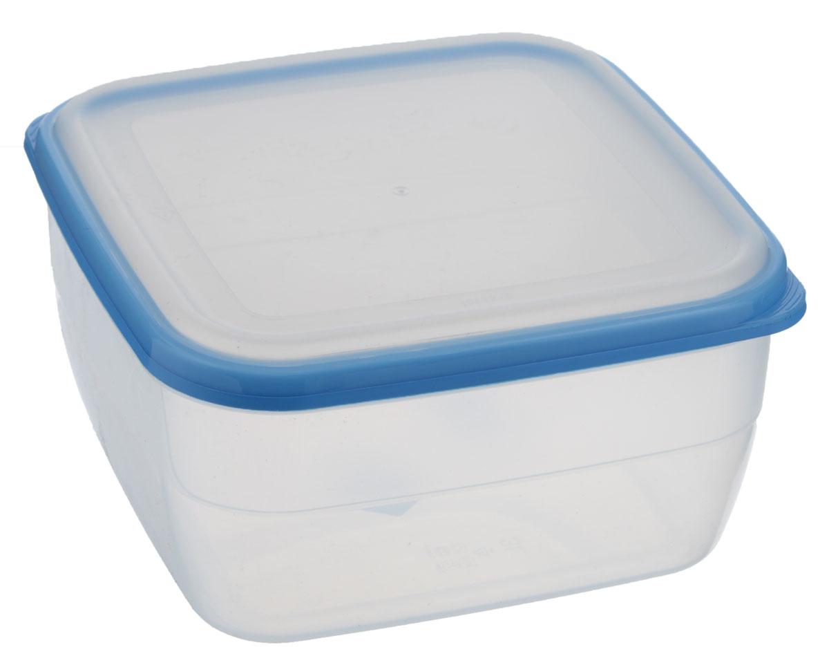 Контейнер Полимербыт Премиум, цвет: прозрачный, голубой, 3 лС568_голубойКонтейнер Полимербыт Премиум квадратной формы, изготовленный из прочного пластика, предназначен специально для хранения пищевых продуктов. Крышка легко открывается и плотно закрывается. Стенки контейнера прозрачные - хорошо видно, что внутри. Контейнер устойчив к воздействию масел и жиров, легко моется. Имеет возможность хранения продуктов глубокой заморозки, обладает высокой прочностью. Подходит для использования в микроволновых печах. Можно мыть в посудомоечной машине.
