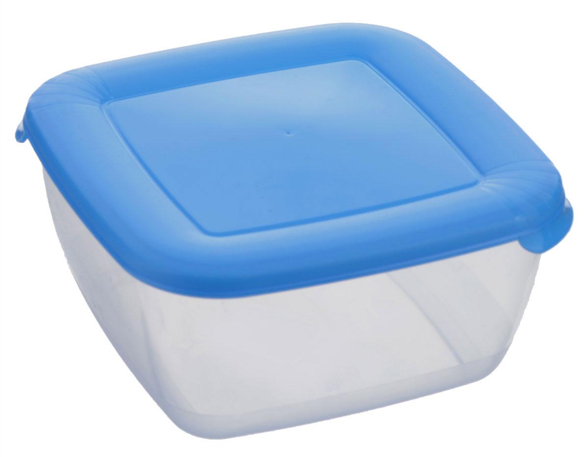 Контейнер Полимербыт Лайт, цвет: прозрачный, голубой, 1,5 лVT-1520(SR)Контейнер Полимербыт Лайт квадратной формы, изготовленный из прочного пластика, предназначен специально для хранения пищевых продуктов. Крышка легко открывается и плотно закрывается.Контейнер устойчив к воздействию масел и жиров, легко моется. Прозрачные стенки позволяют видеть содержимое. Контейнер имеет возможность хранения продуктов глубокой заморозки, обладает высокой прочностью. Можно мыть в посудомоечной машине. Подходит для использования в микроволновых печах.