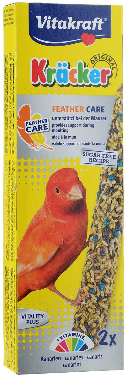 Крекеры для канареек Vitakraft Kracker, при линьке, 2 шт21221Крекеры для канареек Vitakraft Kracker, при линьке облегчает процесс смены перьев у птиц. С повышенным содержанием биотина и витаминов группы В, укрепляющих и предотвращающих выпадение перьев. Состав: зерно, семена, растительные и минеральные вещества, лецитин, мед, водоросли, сахар. Анализ состава: 12,5% влажность, 17% протеин, 16,5% жиры, 10,5% клетчатка, 8% зола, 1% кальций, 0,55% фосфор. Витамины: А, Д3, Е, В2, В6, В12, железо, медь. Товар сертифицирован.