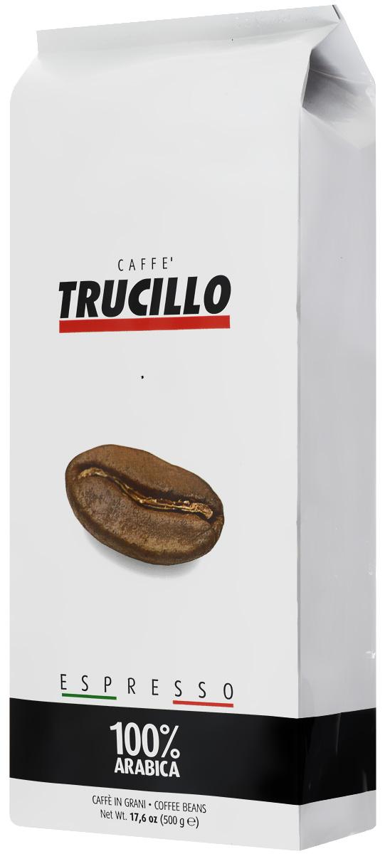 Trucillo Espresso Arabica кофе в зернах, 500 г101246Trucillo Espresso Arabica - тщательно подобранная смесь 100% арабики высочайшего качества. Нотки шоколада и ванили, дополненные лёгкими штрихами миндаля, экзотических фруктов и цветов. Классический итальянский эспрессо с великолепно сбалансированным вкусом и ароматом.