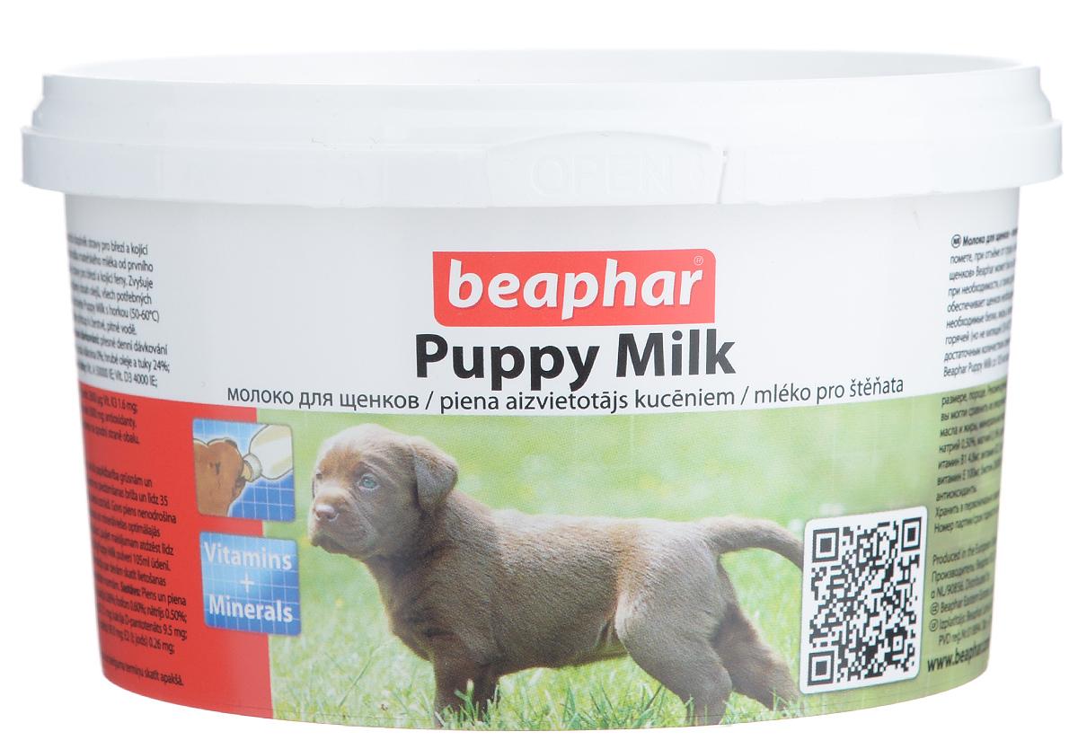 Молочная смесь Beaphar Puppy Milk, для щенков, 200 г4191Молоко для щенков Beaphar Puppy Milk сделано из легко усваиваемой сыворотки и очень близко по составу и вкусу к натуральному молоку самки. Молочная смесь Beaphar Puppy Milk - это полноценная замена материнского молока для осиротевших, брошенных или потерявшихся щенков, щенков рожденных в многочисленном помете, при отъеме от груди и как дополнительное кормлении для беременных и кормящих самок, больных или выздоравливающих взрослых животных. Смесь может быть использована как основное кормление для щенков с рождения до 35 дней. Увеличивает выработку натурального молока. Содержит все необходимые белки, жиры, витамины и минералы в оптимальном соотношении. Состав: молоко и молочные продукты, масла и жиры, минеральные вещества. Анализ: протеин 24%; клетчатка 0%; жиры 24%, зола 7%; влага 3,5 %; кальций 0,90%, фосфор 0,60%, натрий 0,70%, магний 0,14%, калий 1,30%. Содержание витаминов и минеральных веществ в 1 кг: витамин A 50000 МЕ, витамин D3 2000 МЕ, витамин...