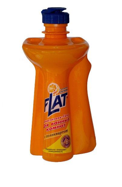 Очиститель-гель для ванных комнат Flat, с ароматом апельсина, 350 г4600296000287Очиститель-гель для ванных комнат Flat - мощное чистящее средство с натуральными маслами для устранения известкового налета, мыльных осадков и других загрязнений ванн, раковин, унитазов. Не повреждает очищаемую поверхность. Введенный в состав поликварт образует невидимую пленку, защищающую от загрязнений и позволяющую быстро высушивать поверхность. Вязкая консистенция позволяет использовать очиститель на неровных и труднодоступных поверхностях и расходовать экономно. Регулярное применение средства обеспечит длительный эффект чистоты. Характеристики: Вес: 350 г. Производитель: Россия.