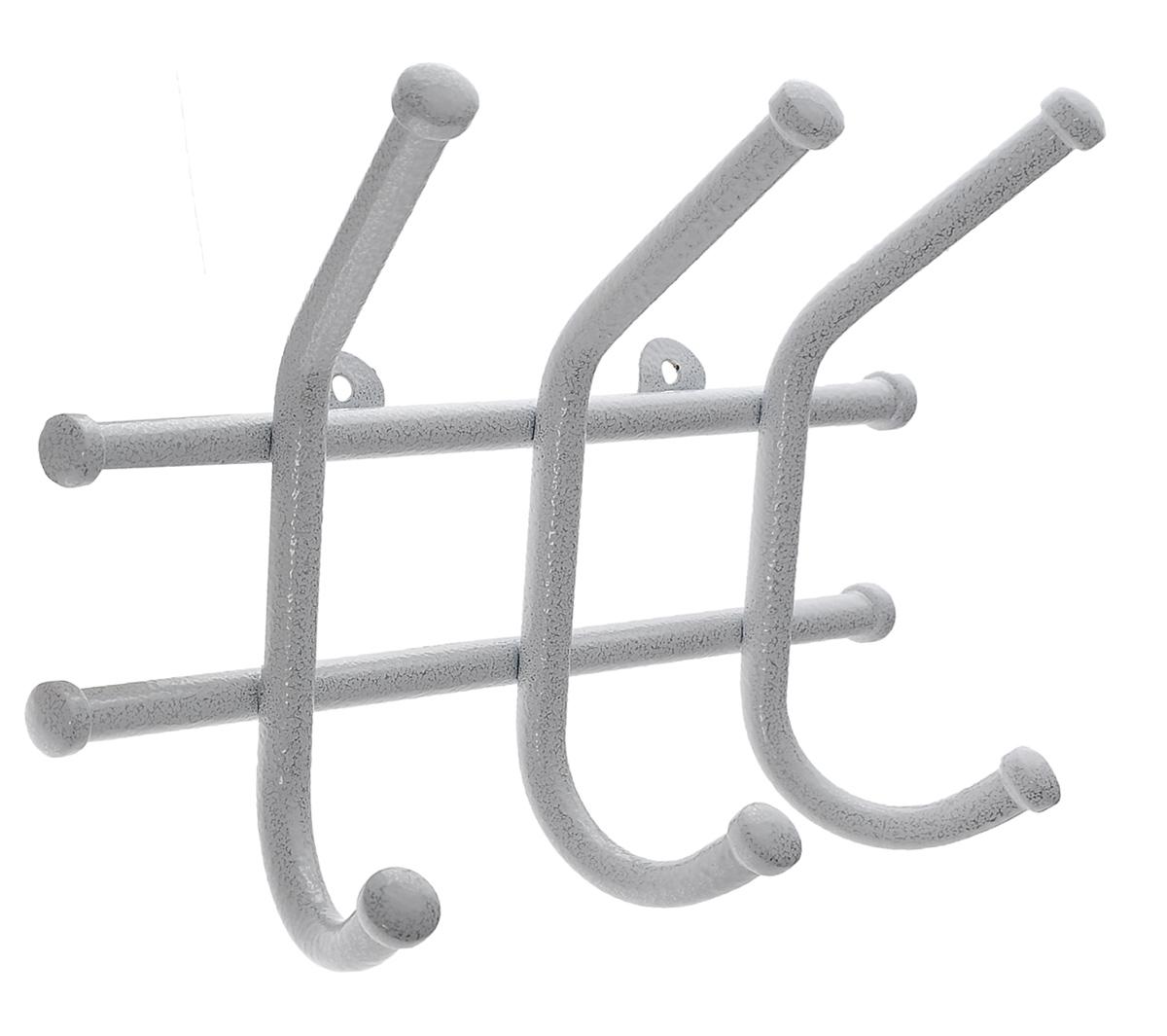 Вешалка настенная ЗМИ Норма 3, цвет: белый, 3 крючкаS03301004Настенная вешалка ЗМИ Норма 3 изготовлена из прочного металла с полимерным покрытием. Изделие оснащено 4 крючками для одежды. Вешалка крепится к стене при помощи двух шурупов (не входят в комплект).Вешалка ЗМИ Норма 3 идеально подходит для маленьких прихожих и ограниченных пространств.