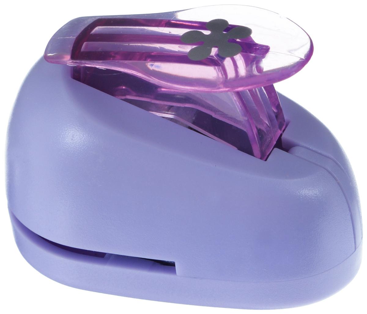 Дырокол фигурный Hobbyboom Цветок, цвет: сиреневый, №199, 1 смCD-99XS-199 сиреневыйФигурный дырокол Hobbyboom Цветок, изготовленный из прочного металла и пластика, поможет вам легко, просто и аккуратно вырезать много одинаковых мелких фигурок. Режущие части дырокола закрыты пластиковым корпусом, что обеспечивает безопасность для детей. Предназначен для бумаги плотностью - 80 - 200 г/м2. Рисунок прорези указан на ручке дырокола. Размер дырокола: 5 см х 4 см х 3 см. Диаметр готовой фигурки: 1 см.