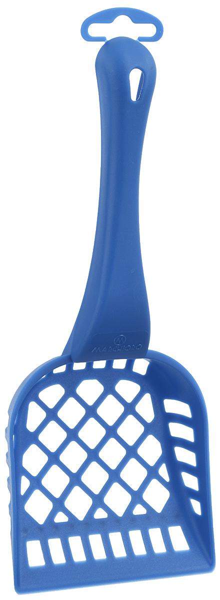 Совочек для кошачьего туалета Marchioro Pala, цвет: синий, длина 26 см1065301200099_синийСовочек для кошачьего туалета Marchioro Pala изготовлен из цветного пластика и оснащен геометрическими отверстиями. Идеален для перемешивания и просеивания наполнителя. На ручке имеется петелька для подвешивания на стену. Размер рабочей поверхности: 10,5 см х 11 см.