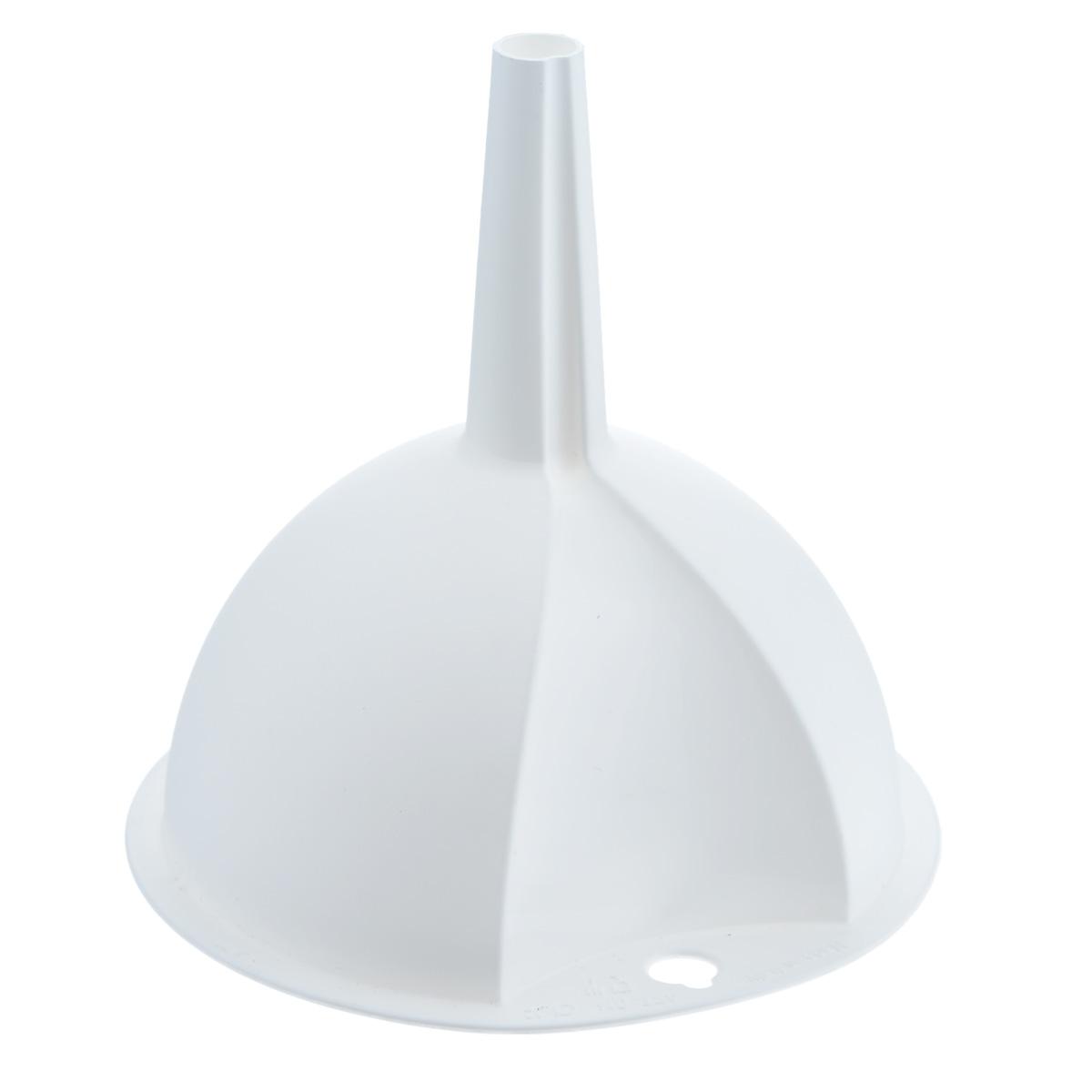 Воронка Metaltex, цвет: белый, диаметр 10 см18.40.10Воронка Metaltex, выполненная из пластика, станет незаменимым аксессуаром на вашей кухне. Воронка плотно прилегает к краям наполняемой емкости, и вы не прольете ни капли мимо. Она отлично послужит для переливания жидкостей в сосуд с узким горлышком. Диаметр воронки: 10 см. Высота ножки: 5 см.