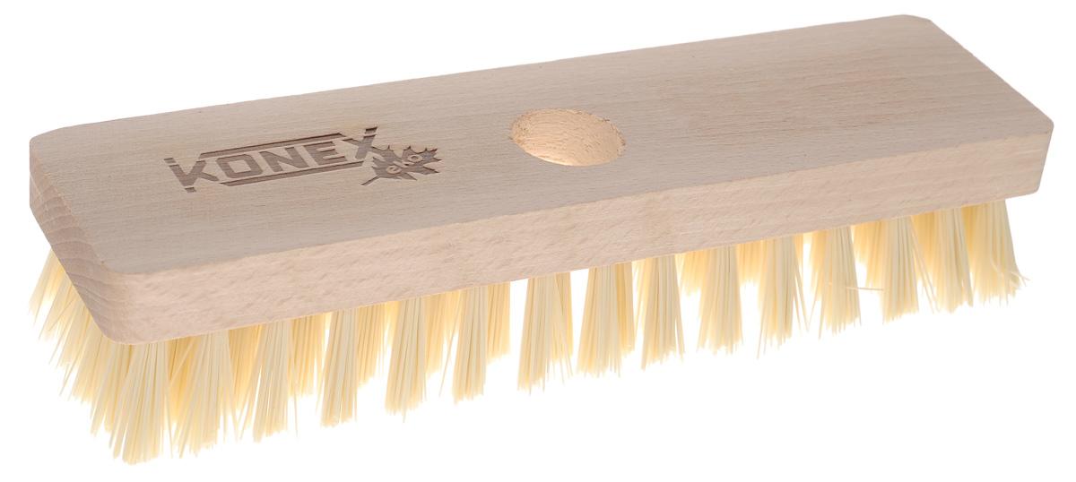 Щетка-насадка для пола Konex Шроберkon86113_светлая/св.щетинаЩетка-насадка Konex Шробер с длинным ворсом, изготовлена из дерева и предназначена для уборки в доме и на улице. Упругие и длинные волоски щетки-насадки не оставят от грязи и следа. Изогнутые под углом щетинки облегчат чистку углов помещения. Длина ворса: 2,7 см. Диаметр отверстия для черенка: 2,2 см.