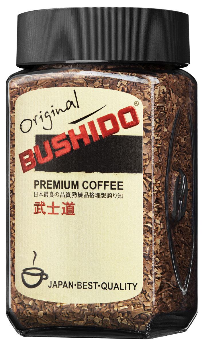 Bushido Original кофе растворимый, 50 г7610121710356Bushido Original изготовлен из собранной вручную южноамериканской арабики, обладает оригинальным вкусом, тонким ароматом и долгим послевкусием.