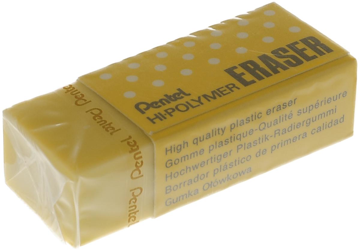 Pentel Ластик Eraser, цвет: желтый72523WDВысокополимерный ластик Pentel станет незаменимым аксессуаром на рабочем столе не только школьника или студента, но и офисного работника. Ластик обеспечивает мягкое и легкое стирание не за счет трения, как обычные каучуковые ластики, а за счет присутствия в составе микрокапсул специального растворяющего вещества. Не повреждает бумагу даже при многократном стирании.