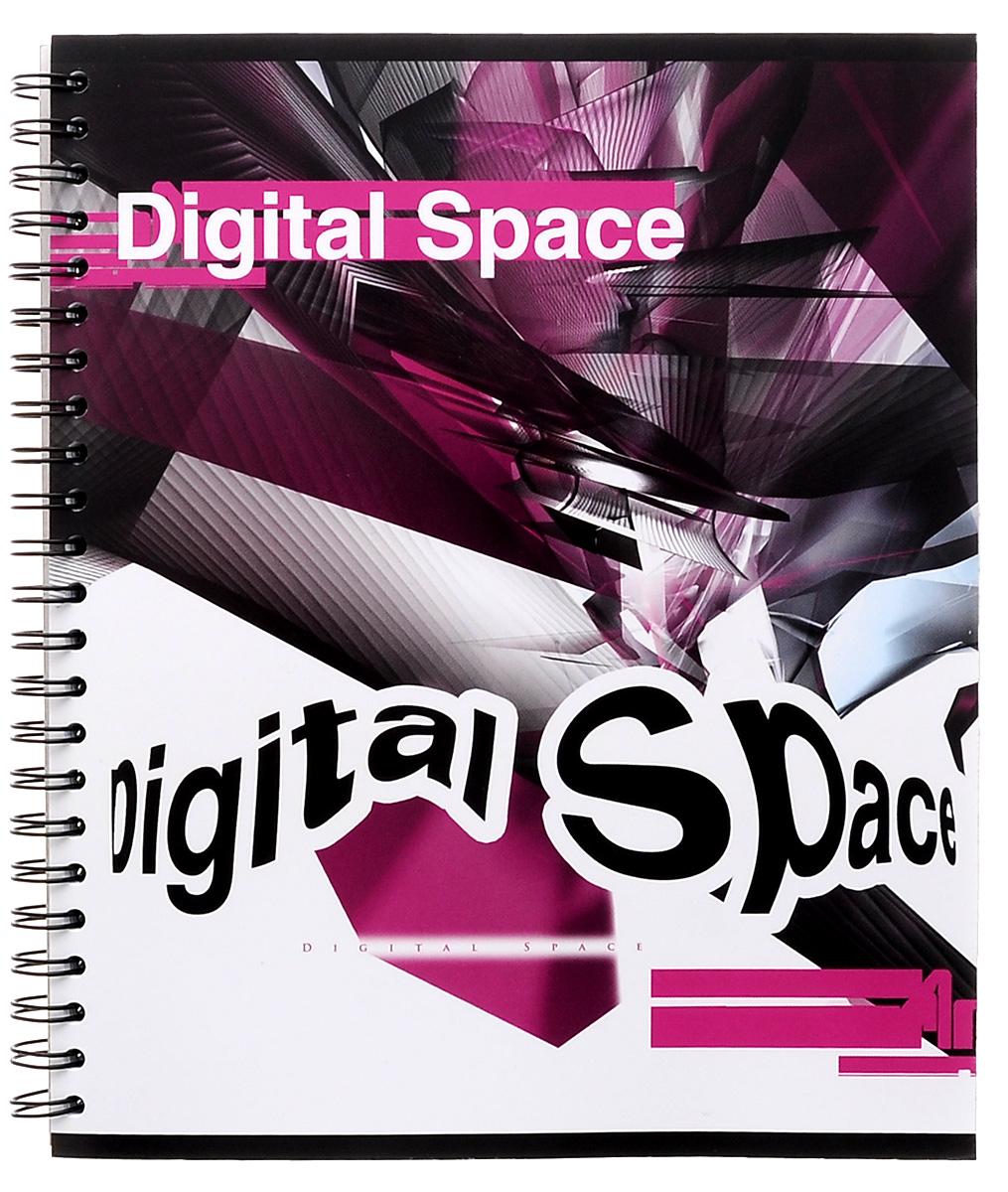 Полиграфика Тетрадь в клетку Digital Space, 80 листов, формат А537631_черн_бел_розТетрадь в клетку Полиграфика Digital Space с красочным изображением на обложке подойдет как студенту, так и школьнику. Обложка тетради выполнена из плотного картона. Внутренний блок состоит из 80 листов белой бумаги на гребне. Разметка страниц стандартная - в голубую клетку, без полей.