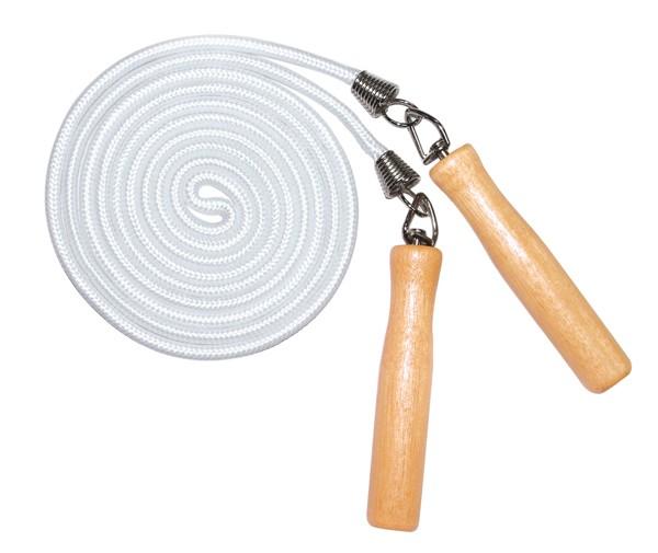 """Скакалка """"Z-sports"""", цвет: белый, коричневый, 2,5 м 063JR"""