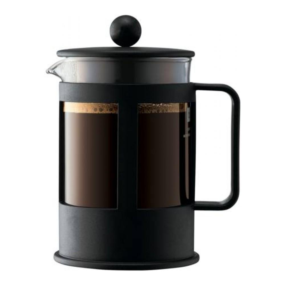 Кофейник с прессом Kenya 0.5л черный, арт. 1784-011784-01Материал: коррозионностойкая сталь, пластик, стекло