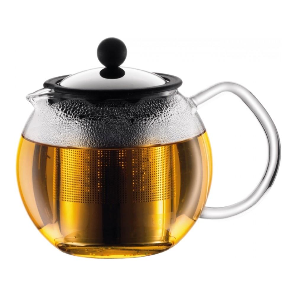 Чайник завар. с прессом Assam 0.5л (кр.нерж.ст.), арт. 1807-161807-16Материал: коррозионностойкая сталь, пластик, стекло