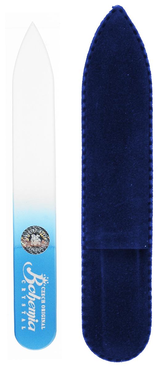 Пилочка для ногтей Bohemia, стеклянная, чехол из замши. 0902, цвет:синийVT-1799(VT)Стеклянная пилочка Bohemia подходит как для натуральных, так и для искусственных ногтей. После пользования стеклянной пилочкой ногти не слоятся и не ломаются. Эта пилочка прекрасно шлифует и придает форму ногтям. При уходе за накладными ногтями рекомендуем пилочку во время работы периодически смачивать в воде.К пилочке прилагается чехол из замши.