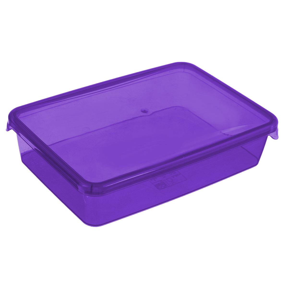 Контейнер Glaretti Браво, цвет: фиолетовый, 0,9 лПЦ1034_фиолетовыйКонтейнер P&C Браво выполнен из высококачественного пищевого пластика и предназначен для хранения и транспортировки пищи. Крышка легко открывается и плотно закрывается с помощью легкого щелчка. Подходит для использования в микроволновой печи без крышки (до +100°С), для заморозки при минимальной температуре -30°С. Можно мыть в посудомоечной машине.